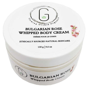 Bulgarian Rose Whipped Body Cream 130 g Glowing Orchid Organics