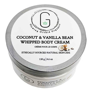 Coconut & Vanilla Bean Whipped Body Cream 130 g Glowing Orchid Organics