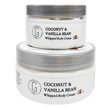 Coconut & Vanilla Bean Whipped Body Cream 130 g & 240 g Glowing Orchid Organics