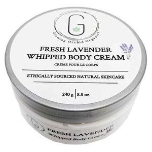 Fresh Lavender Whipped Body Cream 240 g Glowing Orchid Organics