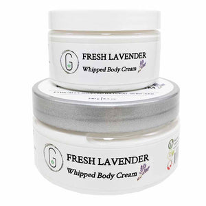 Fresh Lavender Whipped Body Cream 240 g & 130 g Glowing Orchid Organics