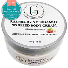 Raspberry & Bergamot Whipped Body Cream 240 g Glowing Orchid Organics Clean Beauty Award Finalist Body Care