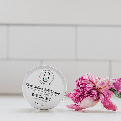 Eye Cream - Chamomile & Helichrysum glowing orchid organics anti-flammatory, firms, tightens and tones skin around the eye