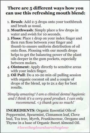 Oral Care Mouth Drops Info Postcard Back How to Use