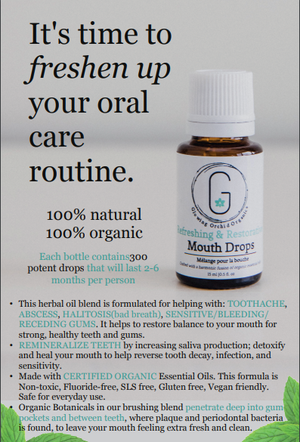 Oral Care Mouth Drops Info Postcard Front