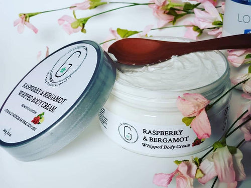 RASPBERRY & BERGAMOT Whipped Body Cream 240 g vegan cruelty free handcrafted with love smells delicious