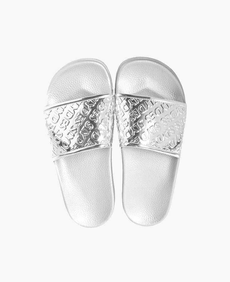 Chance Silver Women's Slider Sandals - SALE - WAS €28,00