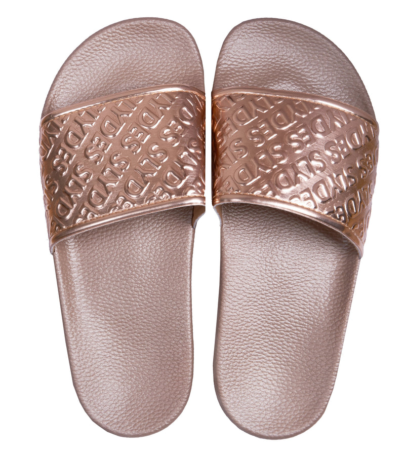 Chance Women's Rose Gold Sliders