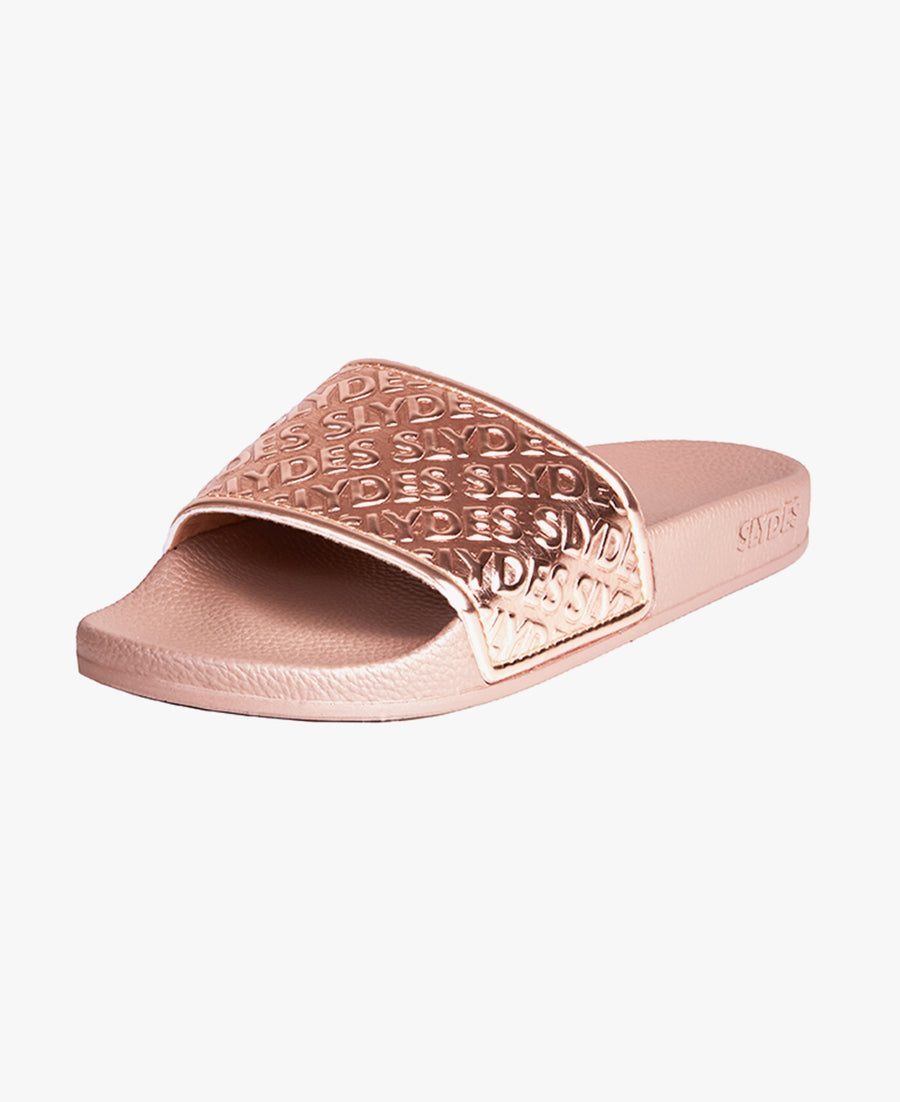 Chance Rose Gold Women's Slider Sandals