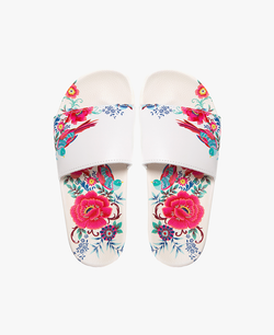 Cabana Floral Women's Slider Sandals - 60% OFF