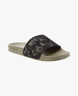 Carter Khaki Men's Slider Sandals - 60% OFF SALE