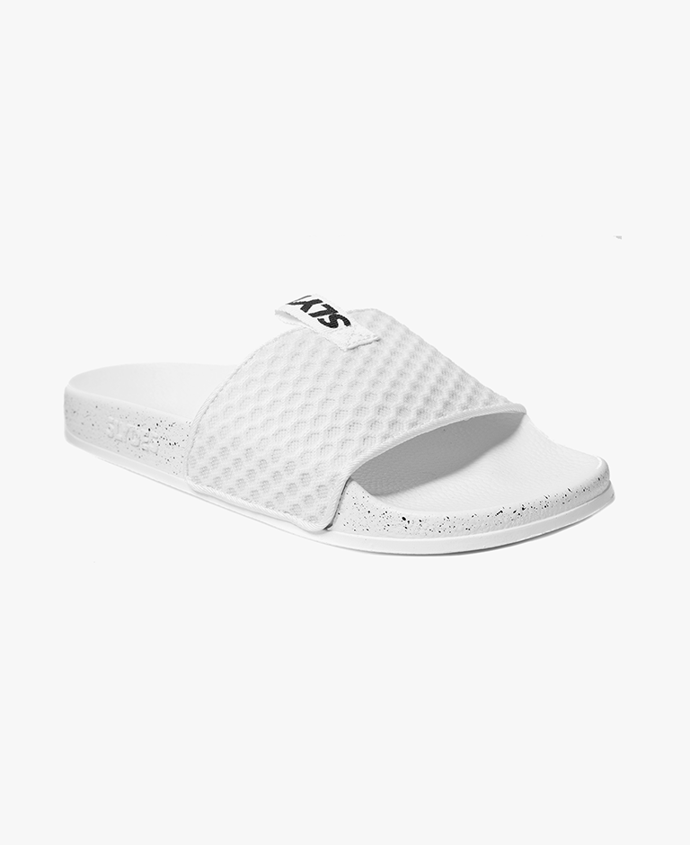 Cruz Mesh White Women's Slider Sandals - SALE - WAS €35,00