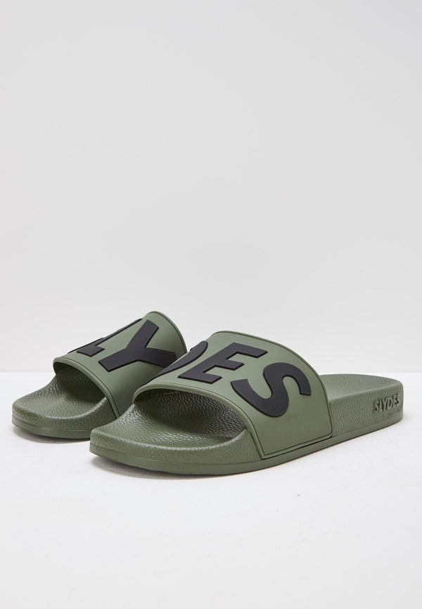 Deflect Men's Khaki Sliders