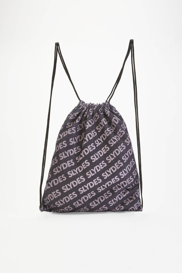 Chance Black Convertible Beach Towel and Drawstring Bag