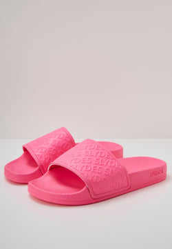 Chance Women's Neon Pink Sliders