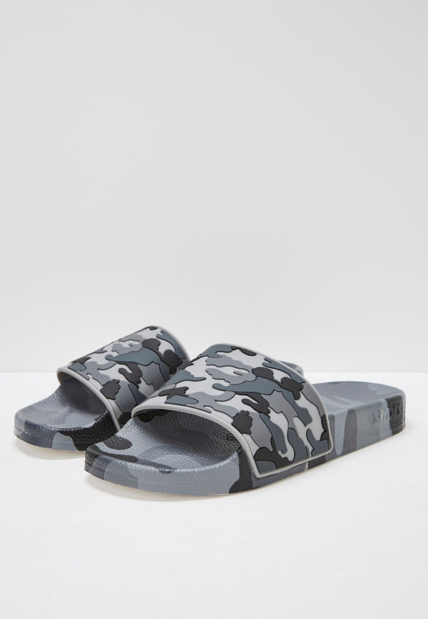 Loco Men's Grey Camo Sliders