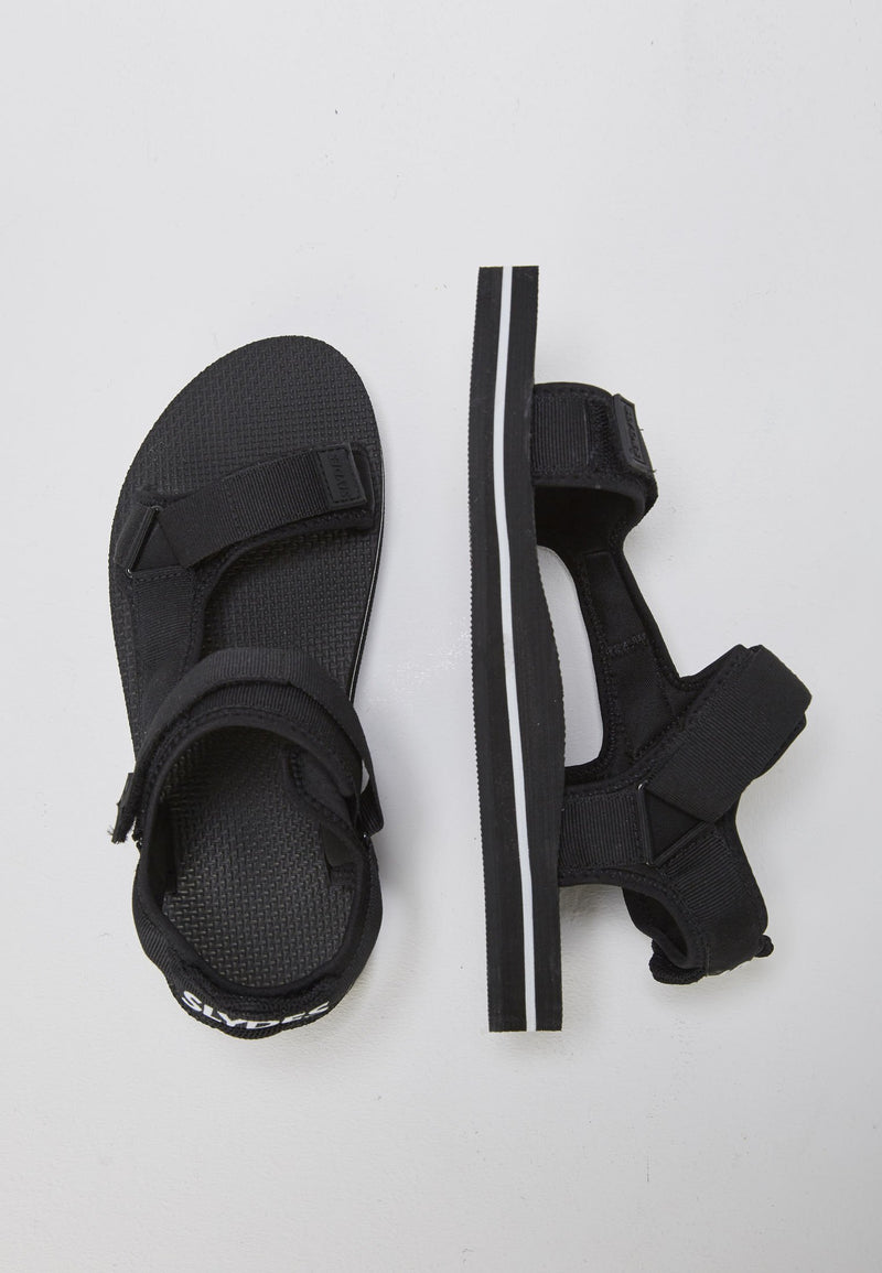 Nevis Men's Black/White Sandals