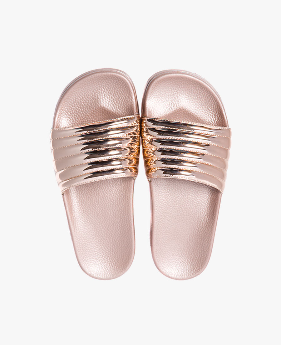 Port Rose Gold Women's Slider Sandals - SALE - WAS €35,00