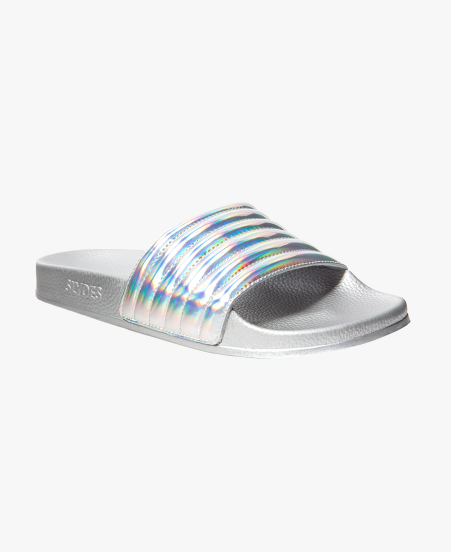 Port Silver Iridescent Women's Slider Sandals - SALE - WAS €35,00