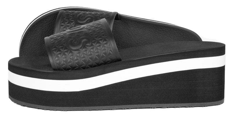 Racer Women's Black/White Sliders