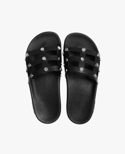 Rebel Black Women's Slider Sandals