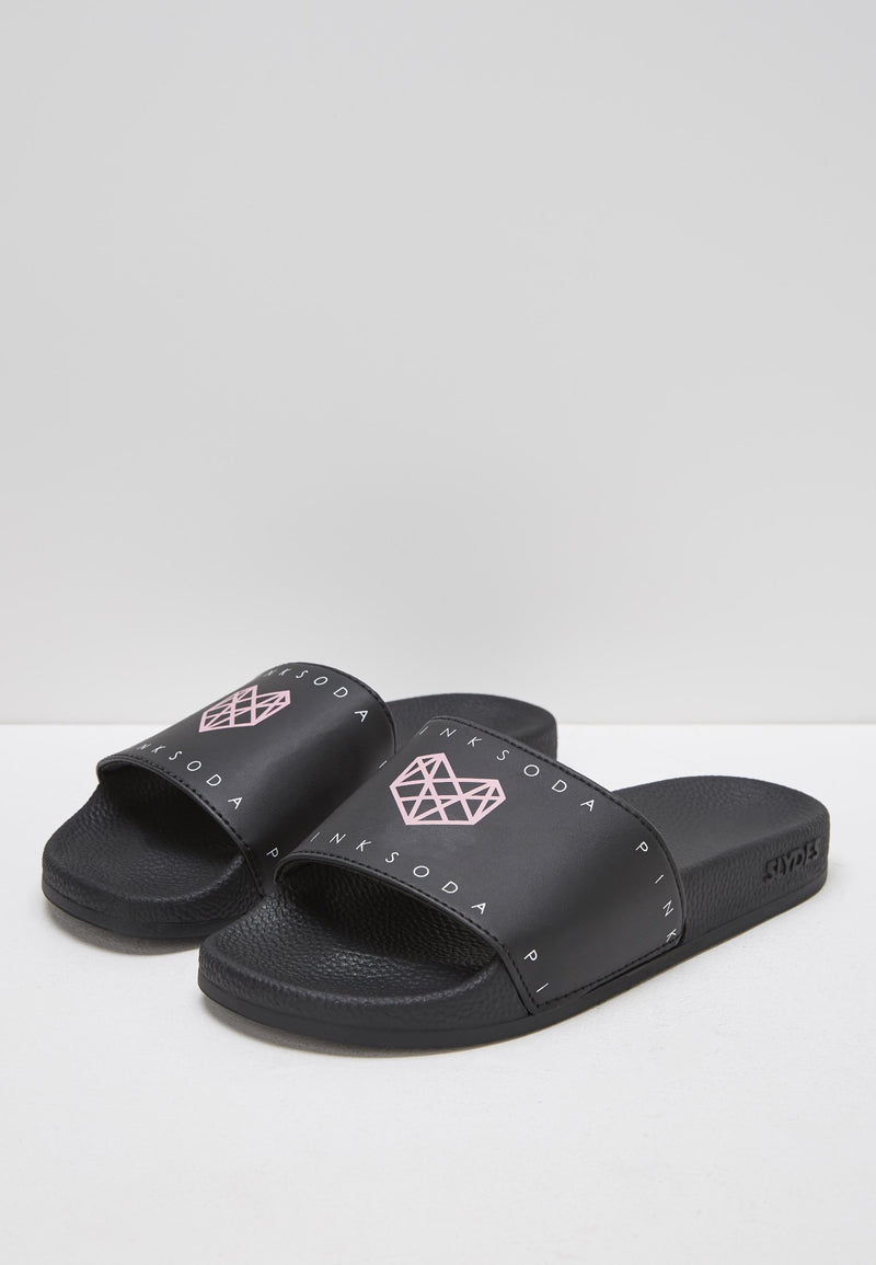 Pink Soda Shake Black Sliders