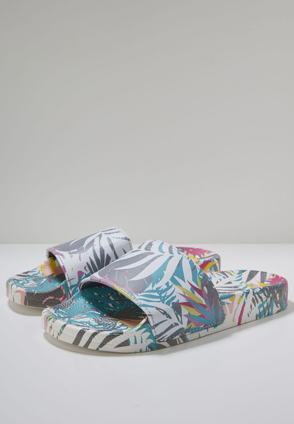 Cyber Light Women's Multi Print Sliders