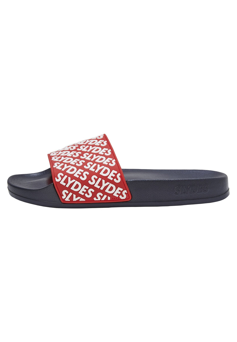 Lucid Men's Red and White Sliders