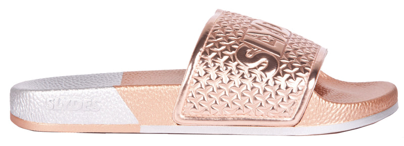 Split Women's Rose Gold/Silver Sliders
