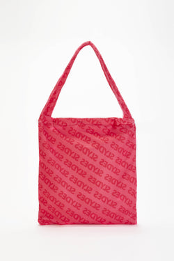 Chance Neon Pink Convertible Beach Towel and Tote Bag