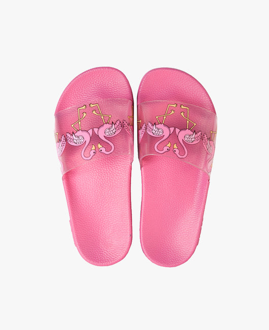 Tia Flamingo Pink Women's Slider Sandals