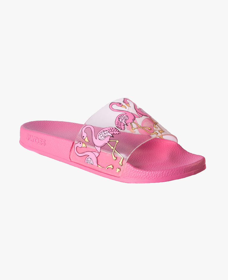 Tia Flamingo Pink Women's Slider Sandals - SALE - WAS €28,00