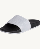Storm Black Reflective Men's Slider Sandals