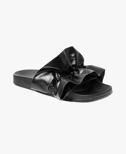 Vertigo Black Women's Slider Sandals - 60% OFF SALE