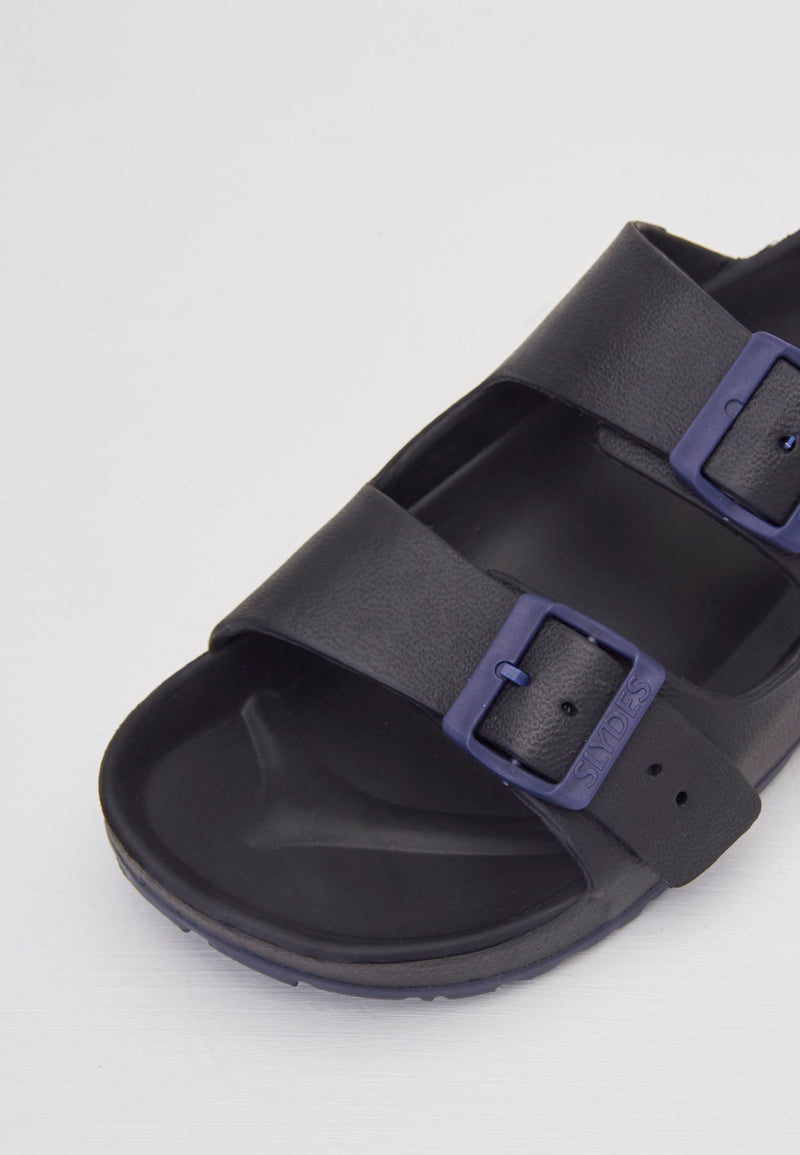 Watson Men's Black/Navy Sliders