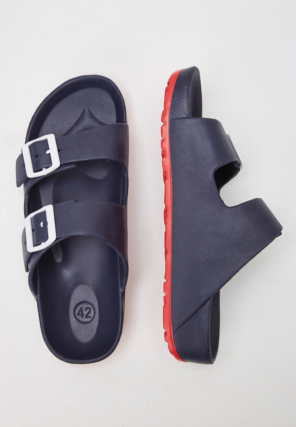 Watson Men's Navy/Red Sliders