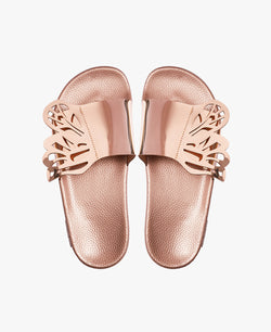 Wings Rose Gold Women's Slider Sandals