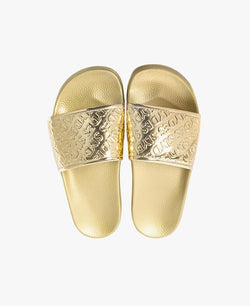 Chance Gold Women's Slider Sandals