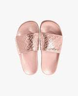 Chance Rose Gold Women's Slider Sandals - 60% OFF SALE