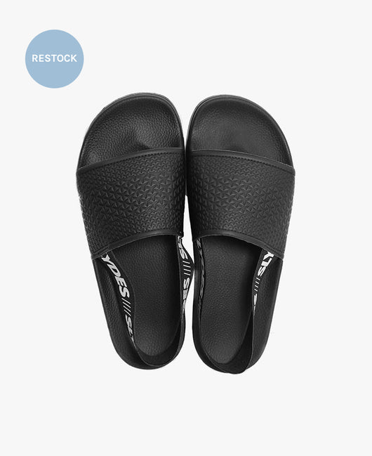 Finn Black Women's Slider Sandals