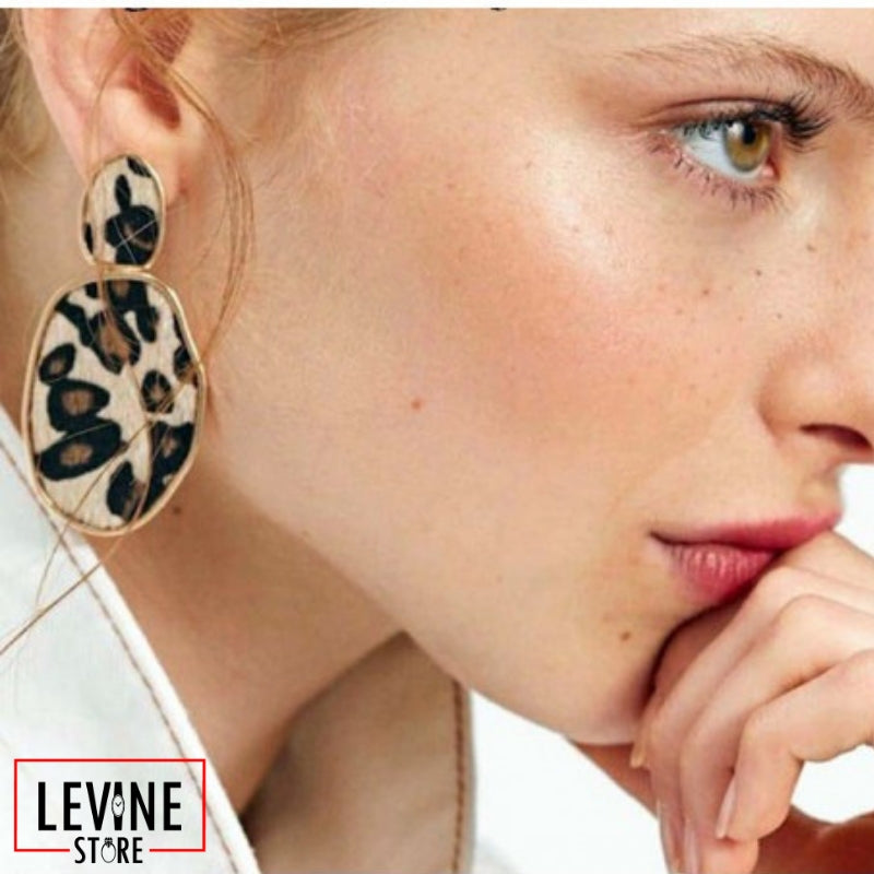 Cheetah Print - Drop Earrings
