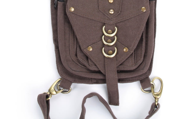 Brown Cotton Canvas Festival Utility Belt