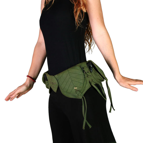 THE SHAKI Leaf Pocket Belt - Green