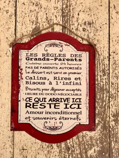 Affiche Règles Des Grands-Parents
