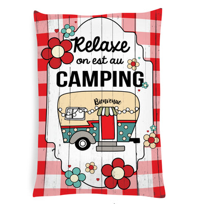 Coussin Relaxe, on est au camping