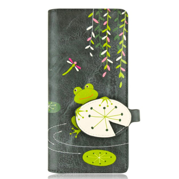 Portefeuille Frog long Gris