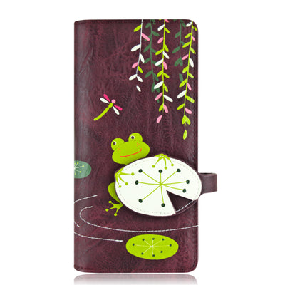 Portefeuille Frog long Prune