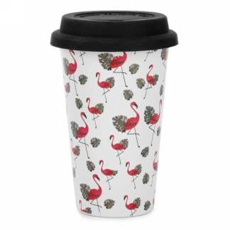 Tasse de voyage Flamants