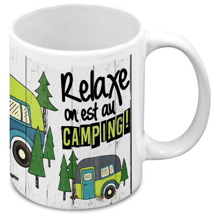 Tasse Relaxe on est au camping!