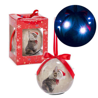 Boule lumineuse chat